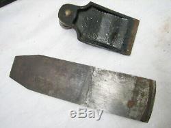 Vintage Stanley No. 40-1/2 Scrub Plane Woodworking Tool V-Logo Iron