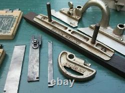 Vintage Stanley No. 45 Combination Plane with 22 Cutter Blades Woodworking