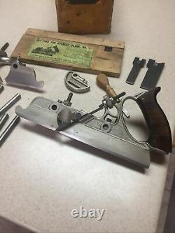 Vintage Stanley No 45 Combination Woodworking Plane with Cutters & Box