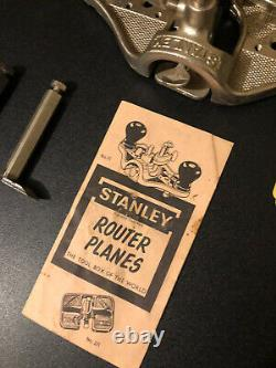 Vintage Stanley No 71 Router Plane Hand Tool Woodworking WithBox Extra Blades