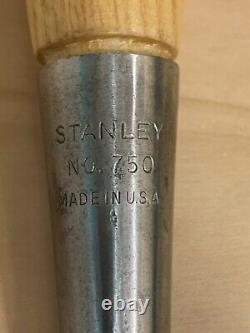 Vintage Stanley No. 750 Woodworking Socket Chisel 2'' wide Made In USA