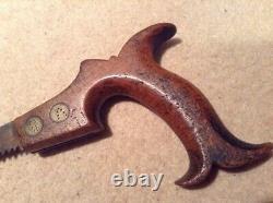 Vintage Thos Turner Sheffield Keyhole Saw Woodwork Carpenter Tool Cabinet Makers