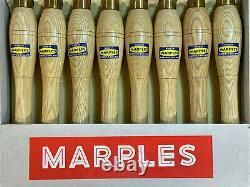 Vintage Unused Set W. Marples Woodturning Chisels Gouges Woodwork Tools Boxed