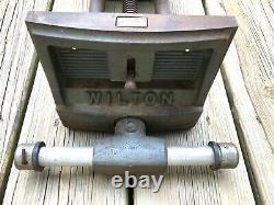 Vintage Wilton 7 Under Bench Mount Woodworking Vise