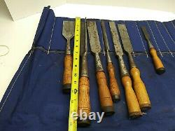 Vintage Woodworking Carpentry Chisels Lot Buck Bros T. H. Witherby Crossman