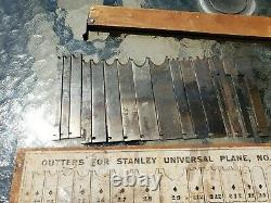 Vtg Cutters Stanley universal plane no. 55 box no. 4 woodworking tool