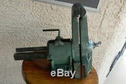 Vtg Sheldon USA Combination Bench Vise Pattern Maker Woodworking Metal Rotating