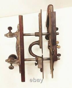 Vtg antique Stanley no. 45 combination plow rabbet woodworking plane tool