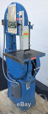 Walker Turner Vertical Band Saw 15-1/2 Throat Cutting Industrial Power Tools