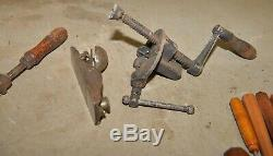 Wood carvers lot Swan drawknife 4 Chip A Way chisel 6 carving tools clamp plane