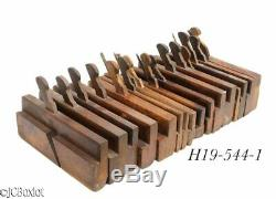 Wood wooden MOLDING PLANE TOOL LOT MOON others H&R's woodworking