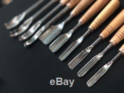 Woodcarving Vintage tools set 11pcs, basic kit for woodworking, hand forged tool