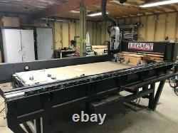 Woodworking CNC Legacy Criterion 4x8 bed auto 6 tool change, three years old