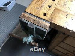 Workbench, woodworking. Vintage, c. 1940s