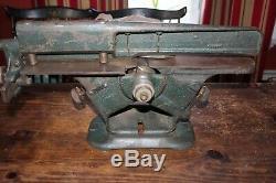 YATES-AMERICAN MACHINE CO, 4'' JOINTER Wood Working Planer, 30s, # W-355, Rare